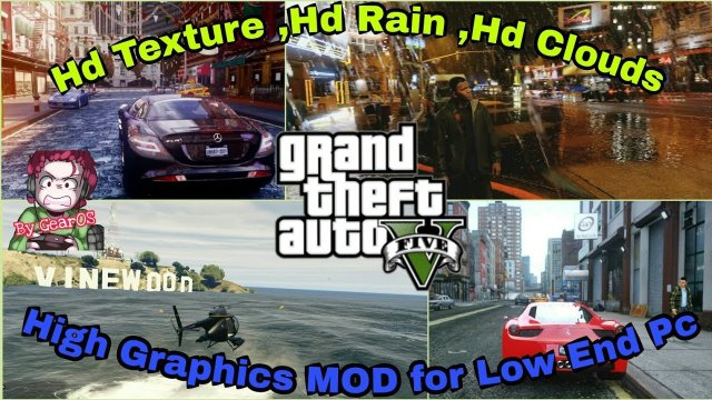 Install |GTA 5| [HD Textures, HD Water, HD Clouds] High Graphics MOD